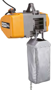 kladkostroj KITO EQ s textilním kontejnerem
